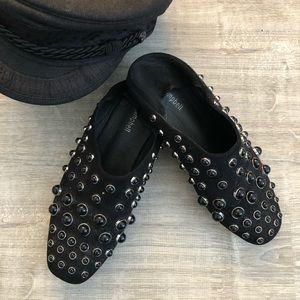 Jeffery Campbell Baxley Black Studded Slides